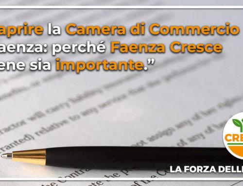 Riaprire la Camera di Commercio a Faenza: perché Faenza Cresce ritiene sia importante.
